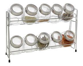 FÖRVARINGSBURK - transparent/rostfritt stål-färgad, Basics, metall/glas (34/10/23cm) - Homeware