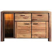 KOMODA SIDEBOARD - barvy sheesham/přírodní barvy, Lifestyle, kov/dřevo (150/90/45cm) - Landscape