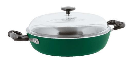 POSODA VINTAGE GREEN, Ø 28 CM - zelena/prosojna, Konvencionalno, kovina/steklo (28cm) - Sambonet