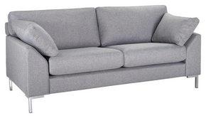 SOFFA - kromfärg/grå, Klassisk, metall/trä (186/84/85cm) - Hom`in