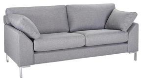 SOFFA - kromfärg/grå, Klassisk, metall/trä (186/84/85cm)