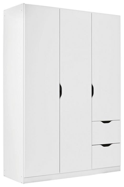 SCHRANK 3-türig Weiß - Weiß, KONVENTIONELL, Holzwerkstoff (136/197/54cm) - Xora