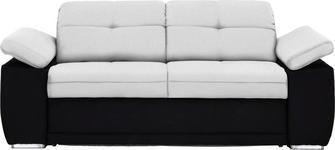 SCHLAFSOFA in Textil Schwarz, Weiß - Chromfarben/Schwarz, KONVENTIONELL, Textil (206/81/101cm) - Venda