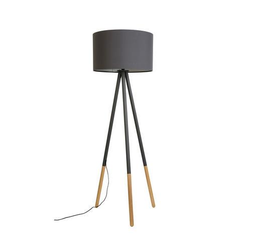 STEHLEUCHTE - Grau, KONVENTIONELL, Textil/Metall (50/155cm)