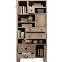 REGÁL - bílá/bronzová, Trend, kov/dřevo (85/178/40cm) - Ambia Home
