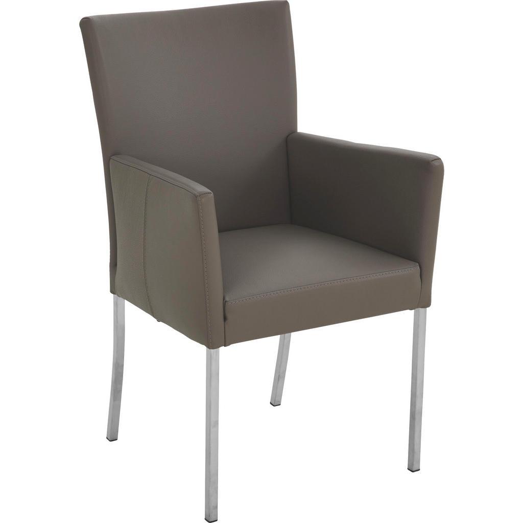Wunderbar Esszimmerstühle Metall Referenz Von Bert Plantagie Stuhl Echtleder Silber, Grau