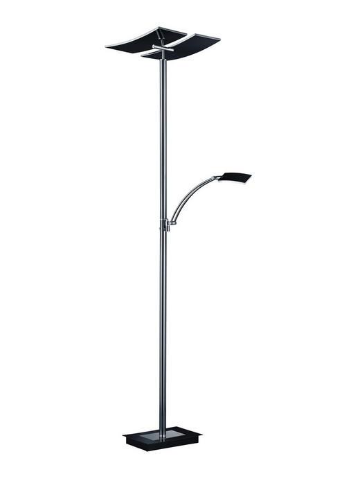 LED-STEHLEUCHTE - Schwarz/Weiß, KONVENTIONELL, Kunststoff/Metall (182cm)