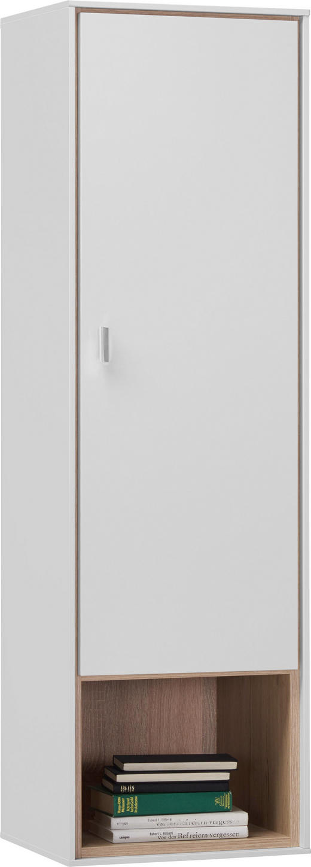 HÄNGESCHRANK - Chromfarben/Weiß, Design, Holzwerkstoff/Metall (39,2/136/35cm) - Hom`in
