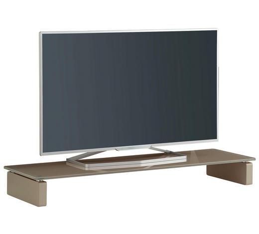 TV-AUFSATZ in Sandfarben - Sandfarben, Basics, Glas/Holzwerkstoff (110/12,2/35cm)