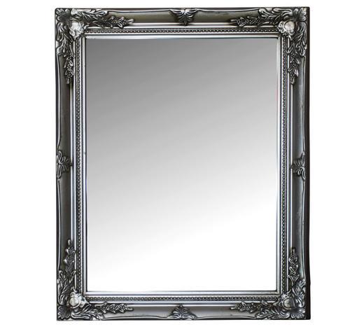 WANDSPIEGEL  - Silberfarben, KONVENTIONELL, Glas/Holz (37/47/3cm)