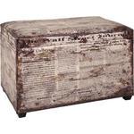 TRUHENBANK in Textil, Holzwerkstoff 65/42/40 cm  - Multicolor, Design, Holzwerkstoff/Textil (65/42/40cm) - Carryhome