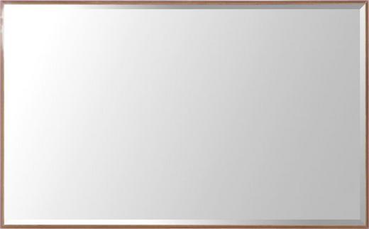 SPIEGEL Nussbaumfarben - Nussbaumfarben, Design, Glas/Holzwerkstoff (90/55/4cm)