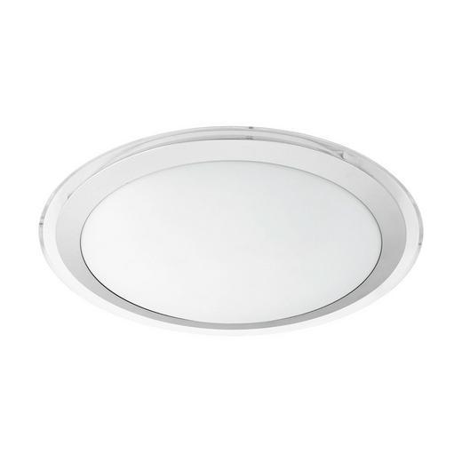 LED-DECKENLEUCHTE - Silberfarben/Weiß, Basics, Kunststoff/Metall (43/9cm)