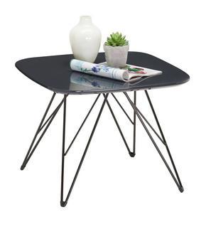 SOFFBORD - mörkgrå/svart, Design, metall/träbaserade material (50/50/38cm) - Carryhome