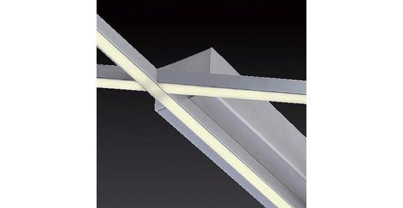 LED-DECKENLEUCHTE   - Nickelfarben, Design, Metall (102/91/5,7cm) - Ambiente