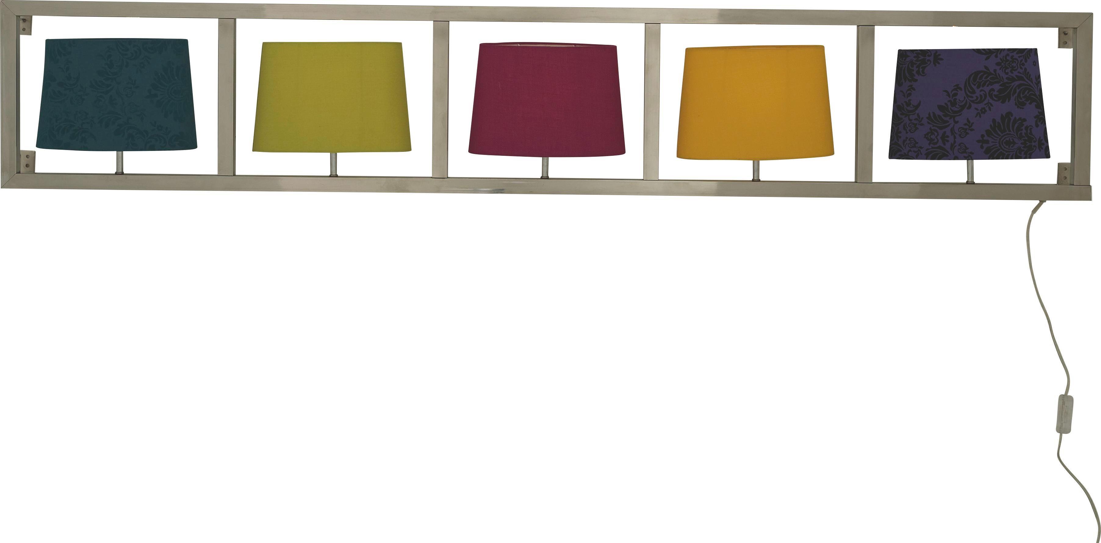 WANDLEUCHTE - Multicolor, Design, Textil/Metall (173/30/16.2cm) - KARE-Design