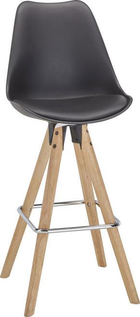 BARSTOL - brun/svart, Design, metall/trä (48,5/111,5/55cm) - Zandiara