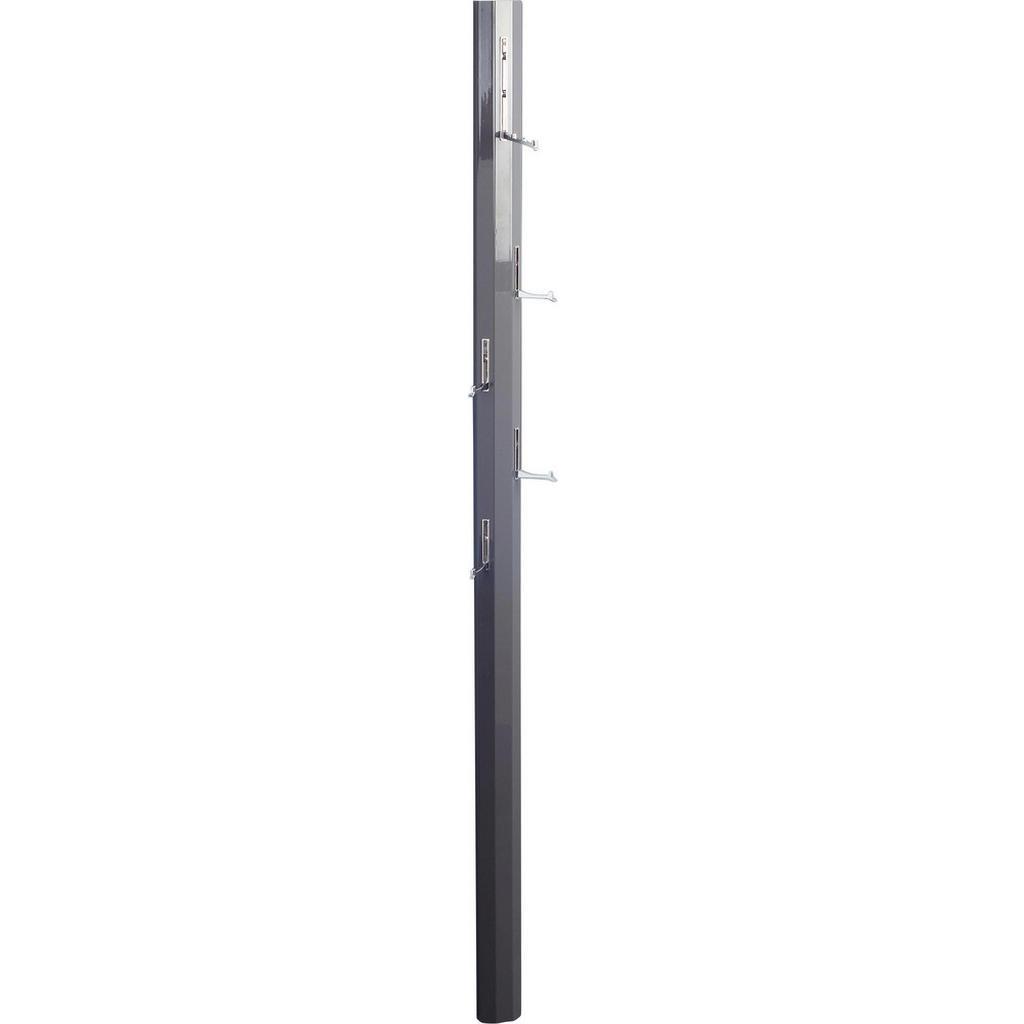 Garderobenpaneel , Anthrazit, Chrom , Metall , 8x185x4 cm , Aufhängemöglichkeit , Garderobe, Garderobenpaneele