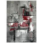 WEBTEPPICH Royal  - Rot/Grau, KONVENTIONELL, Textil (80/150cm) - Boxxx