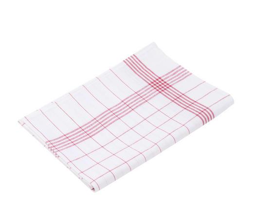 GESCHIRRTUCH-SET  10-teilig - Rot/Weiß, Basics, Textil (50/70cm)
