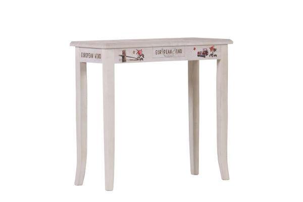 POMOĆNI STOLIĆ - bijela, Design, drvni materijal/drvo (80/76/35cm) - LANDSCAPE