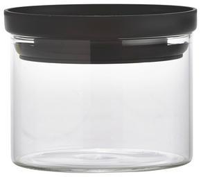FÖRVARINGSBURK - klar/svart, Basics, glas/plast (9,5/7cm) - Homeware