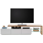 KOMODA LOWBOARD, barvy dubu, bílá - bílá/barvy dubu, Design, dřevo/dřevěný materiál (204/44/40cm) - Xora
