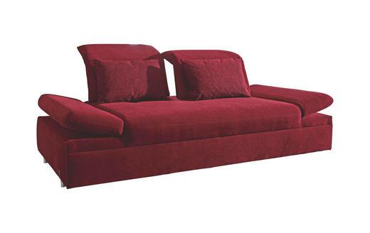 SCHLAFSOFA Rot - Chromfarben/Rot, Design, Textil/Metall (215/80/120cm) - Musterring