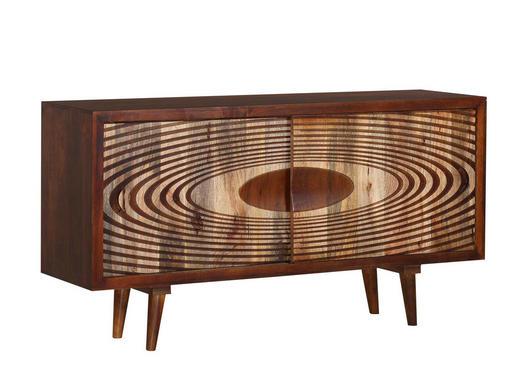 SIDEBOARD Mangoholz massiv gebeizt, lackiert Braun, Naturfarben - Braun/Naturfarben, Design, Holz (160/85/45cm)