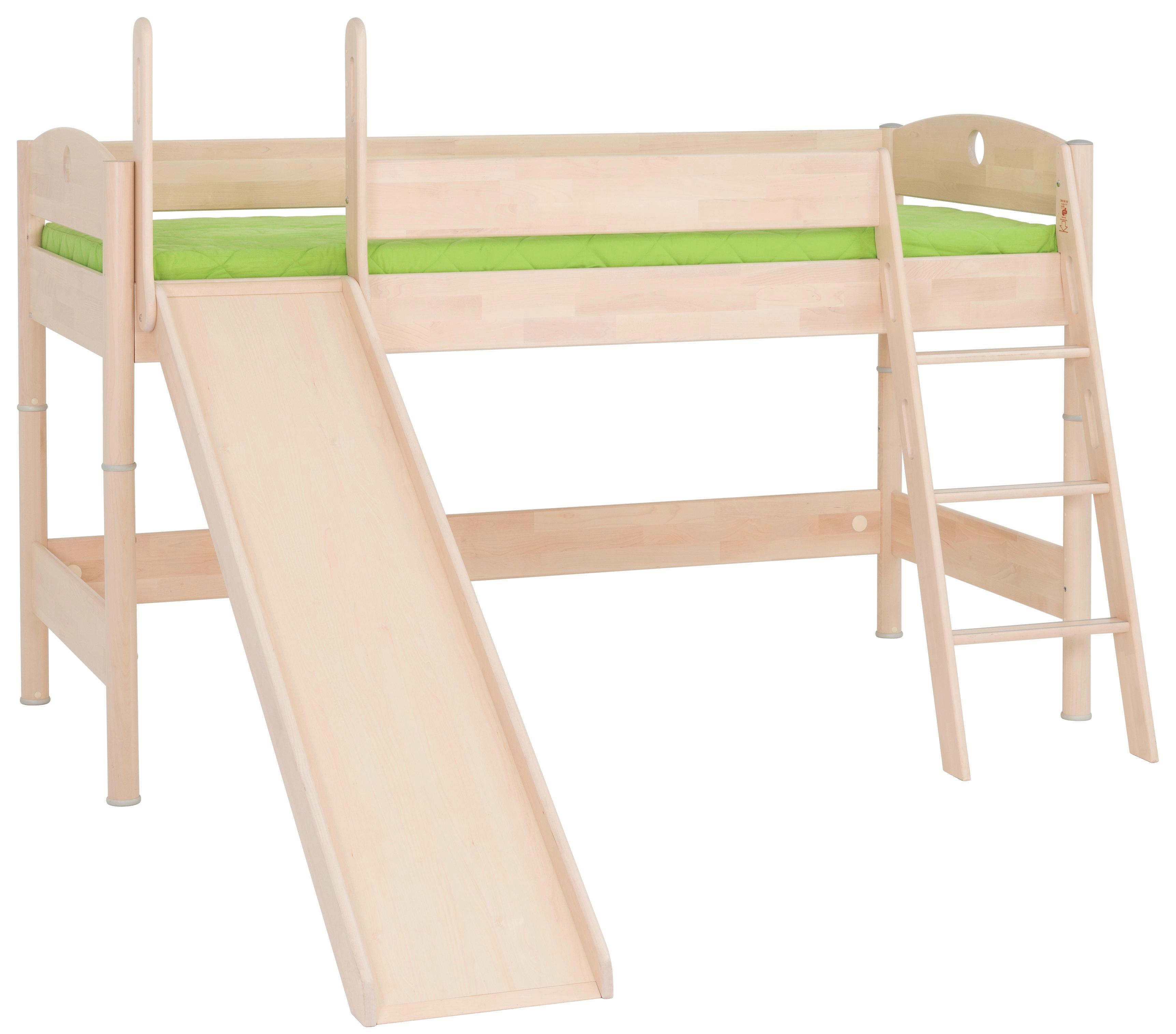 SPIELBETT Birke massiv Birkefarben - Birkefarben, Design, Holz (237,3/149,7/211,5cm) - PAIDI