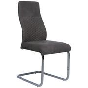 SCHWINGSTUHL Mikrofaser Grau, Chromfarben  - Chromfarben/Beige, Design, Textil/Metall (45/99,5/60,5cm) - Ti`me
