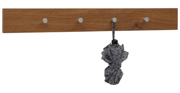 GARDEROBENLEISTE - Eichefarben, Design, Holzwerkstoff/Metall (98/12/5,5cm) - Dieter Knoll