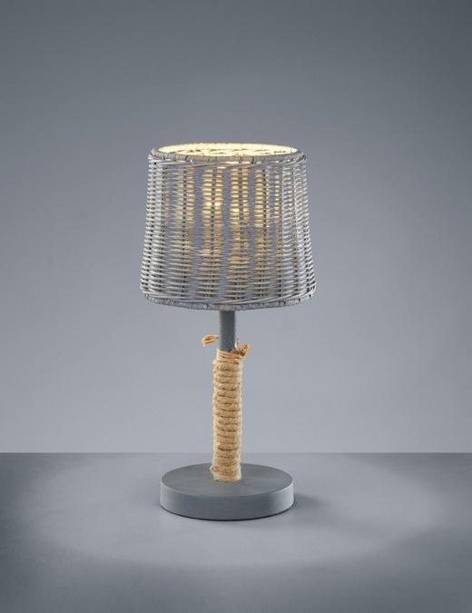TISCHLEUCHTE - Grau, MODERN, Weitere Naturmaterialien/Metall (18/40cm)