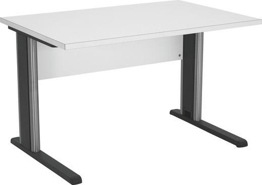 SCHREIBTISCH Weiß - Weiß, Design, Metall (120/73.5/80cm) - WELNOVA