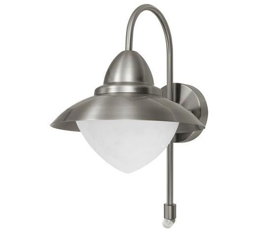 AUßENLEUCHTE - Silberfarben/Weiß, KONVENTIONELL, Glas/Metall (37.5/27,5/32,5cm)