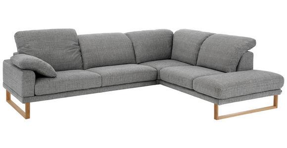 WOHNLANDSCHAFT in Textil Grau - Eichefarben/Grau, Natur, Holz/Textil (281/226cm) - Valnatura