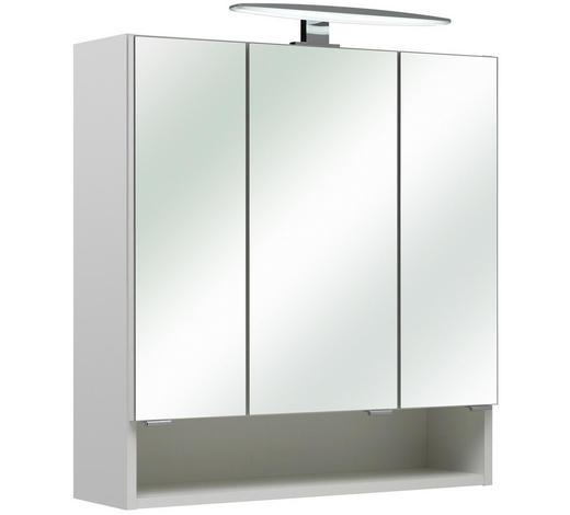 SPIEGELSCHRANK 65/70/18 cm - Chromfarben/Weiß, Basics, Glas/Holzwerkstoff (65/70/18cm) - Xora