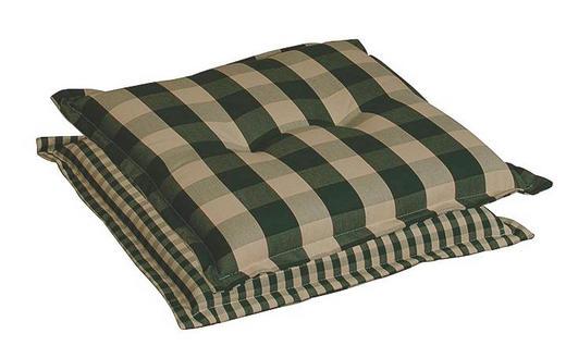 SITZKISSEN Beige, Dunkelgrün - Dunkelgrün/Beige, LIFESTYLE, Textil (50/9/50cm)