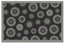 FUßMATTE 60/40 cm Blume Grau - Grau, Basics, Kunststoff/Textil (60/40cm) - Esposa