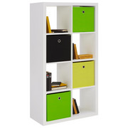 DĚLICÍ STĚNA, bílá - bílá, Design, kompozitní dřevo (77/147/38cm) - Carryhome