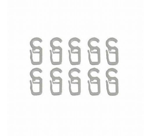 FALTENHAKEN  - Weiß, Basics, Kunststoff (1/3.5cm) - Homeware