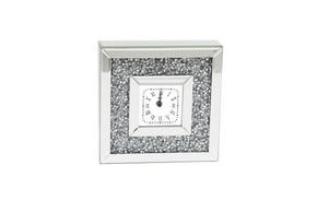 BORDSKLOCKA - silver/transparent, Design, glas/träbaserade material (25,5/25,5/6,5cm) - Ambia Home