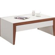 COUCHTISCH in Nussbaumfarben, Weiß - Silberfarben/Nussbaumfarben, Design, Holzwerkstoff/Metall (115/70/46,5cm) - Hom`in