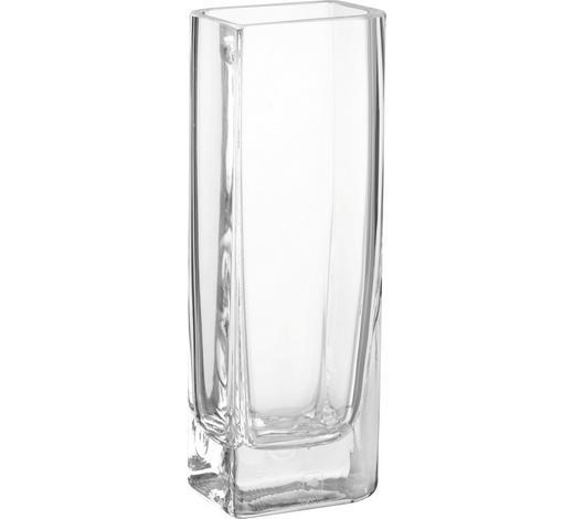 VÁZA, čiré - čiré, Basics, sklo (25cm) - Leonardo