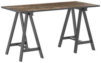 SCHREIBTISCH Braun, Schwarz - Schwarz/Braun, Design, Holzwerkstoff (140/74/65cm) - Carryhome