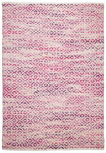 ROČNO TKANA PREPROGA DIAMOND - naravna/roza, Trendi, tekstil (160/230cm) - Tom Tailor