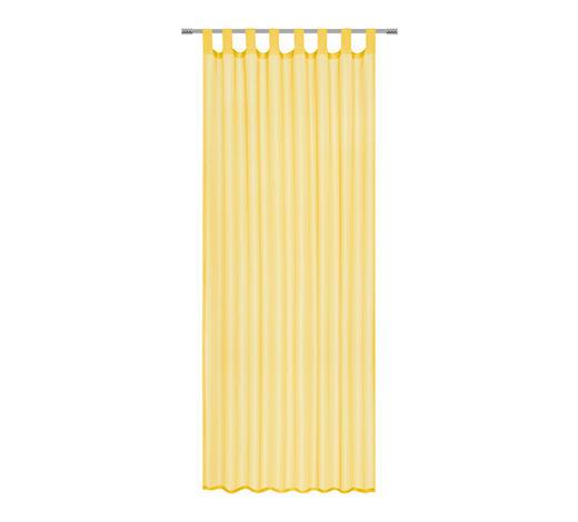 SCHLAUFENVORHANG transparent - Gelb, Basics, Textil (140/245cm) - Boxxx