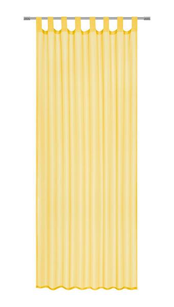 ZAVESA Z ZANKAMI COLOURS - rumena, Konvencionalno, tekstil (140/245cm) - Boxxx
