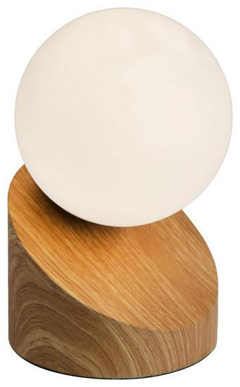 LED-TISCHLEUCHTE - Hellbraun/Eichefarben, Design, Glas/Metall (16cm) - Boxxx