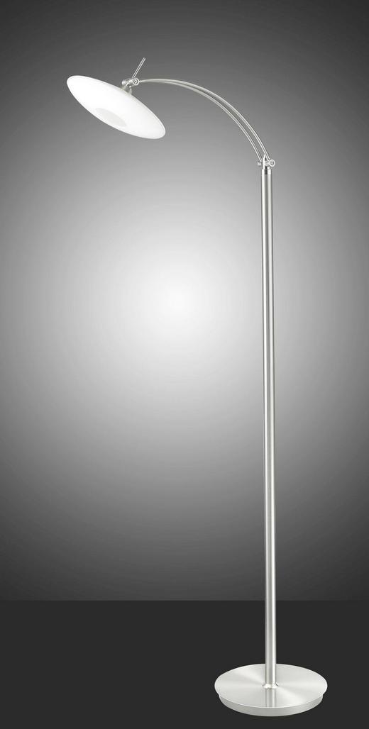 LED-STEHLEUCHTE - Chromfarben/Weiß, Design, Glas/Metall (40,0/140,0/50,0cm)